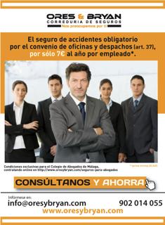 Seguro de accidentes de convenio ores y bryan for Convenio colectivo oficinas y despachos pontevedra