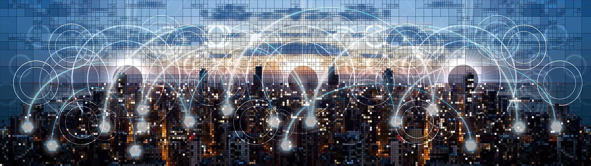 imagen de ciudad con conexiones